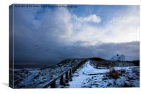 Rocky Island in the snow (3), Canvas Print