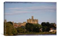 Warkworth Castle in Northumberland., Canvas Print