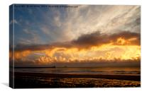 Autumn Sunrise over the North Sea, Canvas Print