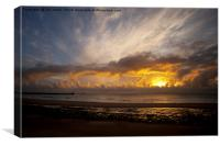 Autumn Sunrise over the North Sea (2), Canvas Print