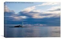 Start of the day at St Mary's Island, Canvas Print