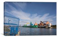The Port of Blyth at work, Canvas Print