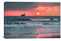 December Dawn over the North Sea, Canvas Print