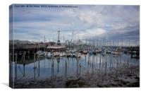 The Marina at Blyth South Harbour, Canvas Print