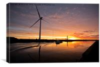 October Sunrise on the River Blyth (2), Canvas Print