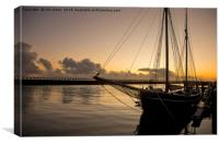 Calm start to the day, Canvas Print