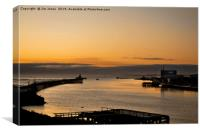 Dawn on the River Blyth in Northumberland., Canvas Print
