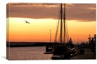 Sunrise over the River Blyth, Canvas Print