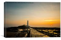 The Causeway to St Mary's Island, Canvas Print