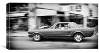 Mustang Classic Car, Canvas Print
