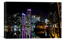 South Quay by Night, Canvas Print