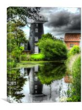 Norton Marsh Mill, Canvas Print