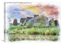 St Marys, Teynham, Canvas Print