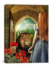 Dorothy and the Lion, Canvas Print