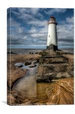 Lighthouse Steps, Canvas Print