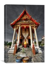 ThaI Temple, Canvas Print