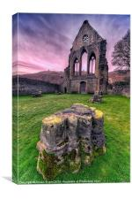 Old Abbey, Canvas Print
