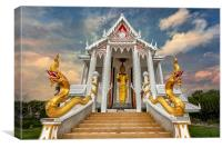 Pranburi Temple, Canvas Print