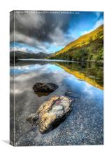 Autumn at Crafnant, Canvas Print