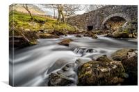 River Ogwen Bridge, Canvas Print