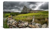 Ynys-y-Pandy Slate Mill, Canvas Print