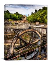 Mine Wheel, Canvas Print