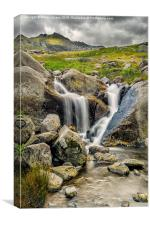 Nant Bochlwyd Waterfall, Canvas Print