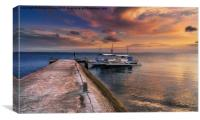 Pandanon Island Sunset, Canvas Print