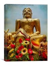 Golden Buddha , Canvas Print