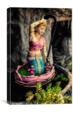 Temple Lady Statue, Canvas Print