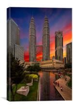 Petronas Towers Sunset, Canvas Print