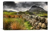 Tryfan Mountain East Face, Canvas Print