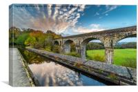 Chirk Aqueduct And Viaduct, Canvas Print