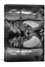 Iron Bridge Shropshire , Canvas Print