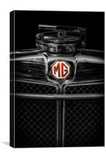 MG Grill Badge, Canvas Print