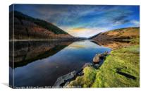 Lake Geirionydd Sunset, Canvas Print