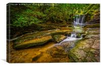 Nant Mill Falls Wales, Canvas Print