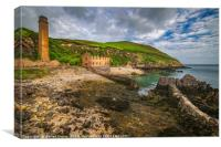 Porth Wen Brickworks Anglesey, Canvas Print