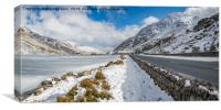 Frozen Lake Snowdonia, Canvas Print