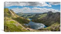 Footpath from Snowdon Mountain, Canvas Print