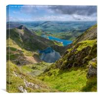 Footpaths from Snowdon Mountain, Canvas Print