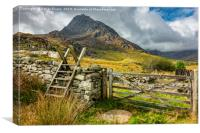 Gate to Tryfan East Snowdonia, Canvas Print