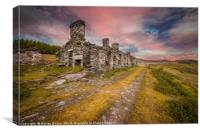 Rhos quarry barracks Ruins, Canvas Print
