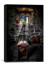 Chapel Sun Light, Canvas Print