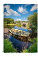 Boat At Padarn Lake Llanberis, Canvas Print