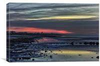 Last embers of the sunset, Canvas Print