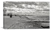 A walk along the prom, Canvas Print