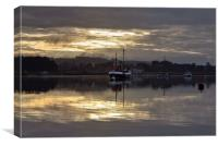 Calm day at Brancaster Staithe, Canvas Print