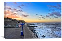 Sheringham sea front at sunset, Canvas Print