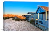 Old Hunstanton beach huts, Canvas Print